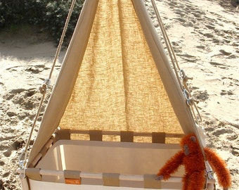 Heavenly canopies for the Hussh hanging cradle. Pure linen. Now only USD 77,- on www.hussh-cradles.com
