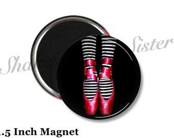 Ballet Magnet - Fridge Magnet - Dance Magnet - 1.5 Inch Magnet - Kitchen Magnet - Ballet Dancer