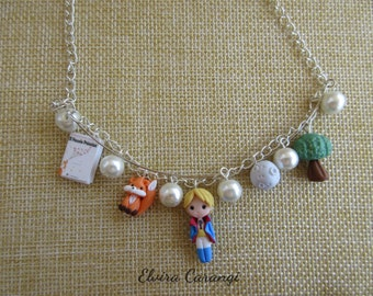 The little prince inspired necklace, polymer clay