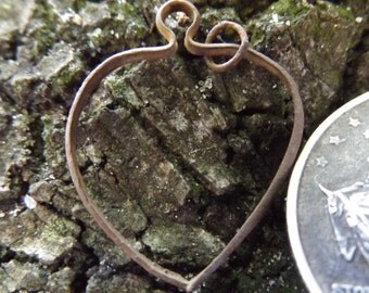 Civil War Heart Necklace Pendant - Dug in a Union Camp in Stafford, VA - 100% Authentic, Unique & Original RARE 1800s Antebellum Piece!