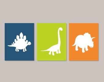 Dinosaur Wall Art dinosaur wall art prints baby boy nursery artwork big boy