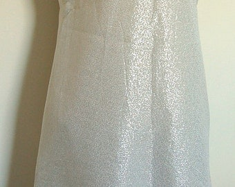 Vintage silver and white mini dress