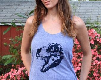 Dinosaur Shirt - Dinosaur Tank Top - Trex Shirt - Science Shirt - Dinosaur TShirt - Women's Dinosaur Top - Racerback - Graphic Tank Top
