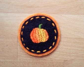 Pumpkin Badge (Patch, Pin, Brooch, or Magnet)