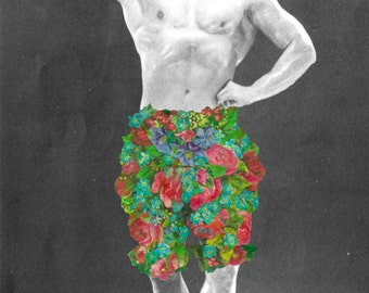 Fancy Pants Boxer Collage Greetings Card