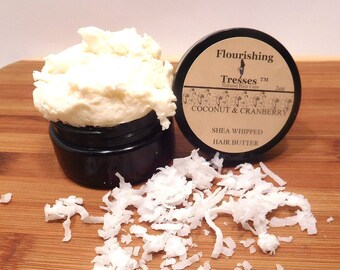 Trial /Travel Coconut & Cranberry Shea Whipped Butter 2oz.