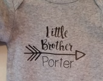 Little Bother/Big Brother Arrow Onsie/Shirt Matching Set