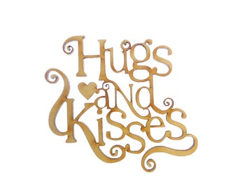 Christmas Tree Decorations - Hugs and Kisses Ornament - Tree Decorations - Hugs and Kisses