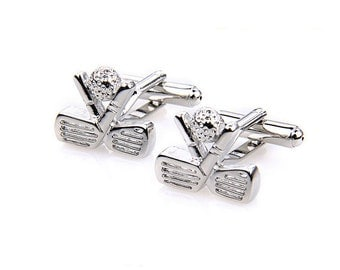 Golf Club & Ball Cufflinks Golfer Wedding Groom Groomsmen Groomsman Gift