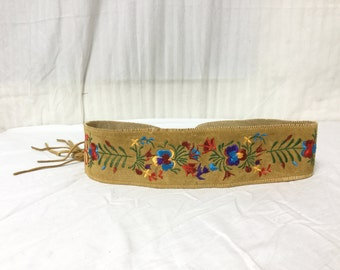 Embroidered Belt, suede Leather ,Fringed,Boho belt,free shipping in the US
