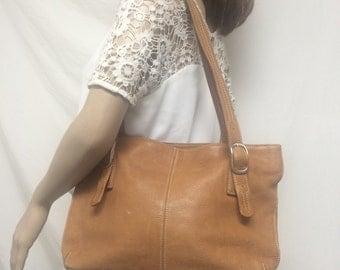 Tignanello, leather tote ,purse,Brown,tan leather bag,shoulder bag, purses