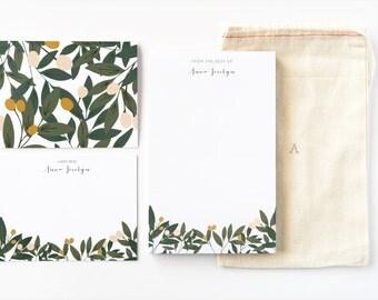 Botanical stationery   Etsy