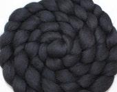 Baby Alpaca Roving / Combed Top - Black 4 oz