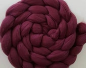 Wine - Extrafine 16 micron Merino Wool Roving/combed top  - 4 ounces