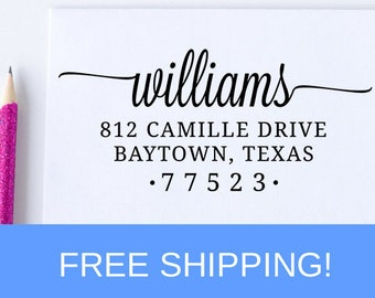 Custom Return Address Stamp, Self Inking Address Stamp, Personalized Address Stamp   (D171)