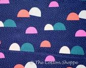 Kokka Saaristo ~ Kokka Fabric ~ Japanese Fabric ~ Canvas Fabric ~ Semi Circles Fabric ~ Quilting Fabric ~ Home Decor Fabric ~ Apparel Fabric