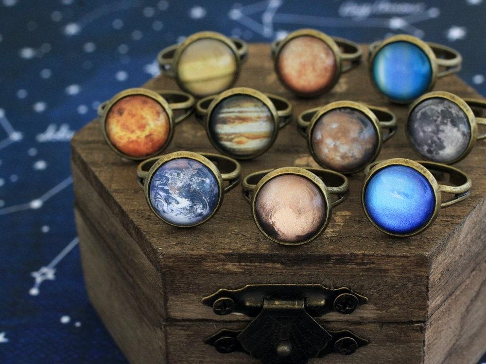 Planet Ring Solar System Ring Retro Planet Ring Earth Ring
