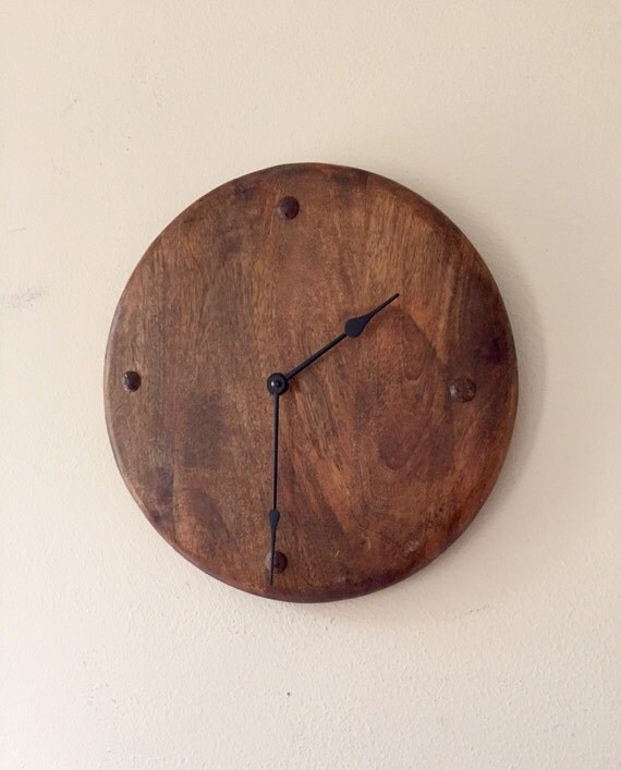 Sale reclaimed wood clock solid reclaimed by raccoonwoodworks Reclaimed wood wall art for sale
