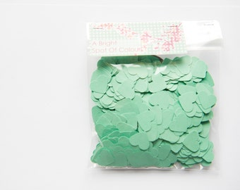 1000 Mint Green Heart Confetti for wedding, parties, scrapbooking and decoration. 1 cm Die cut hearts - Baby shower - Mint green hearts