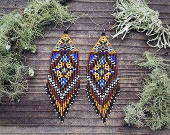 Bluegrass Baby..Beaded Fringe Earrings