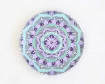 Mandala decorative plate Mint Ice cream - Wall mandala - Wall hangings - Wall plate - Wall decor