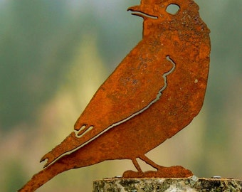 Bluebird Steel Silhouette with Rusty Patina