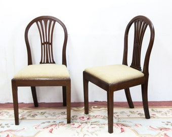 Pair of Hepplewhite Side Chairs