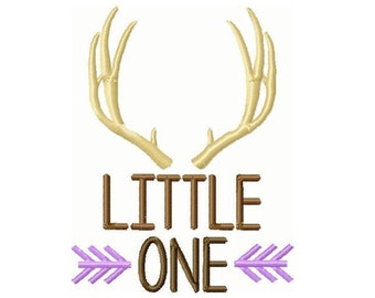 Little One Antlers and Arrows Custom  Embroidery Design -INSTANT DOWNLOAD-