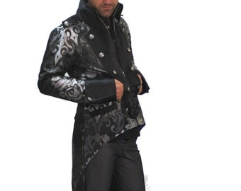Steampunk Mens Tail jacket brocade