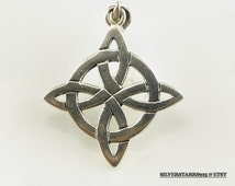 Celtic Cross Sterling Silver Pendant 4/5  Inch Tall Vintage 925