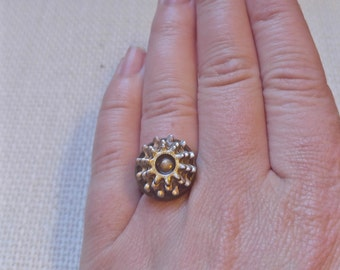 Stacked Bronze Gear Ring