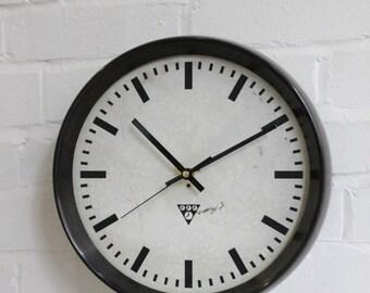 Vintage Industrial Bakelite Czceh Factory Clock By Pragotron