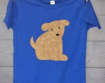 Personalized Puppy Dog Monogram Applique Shirt or Onesie Boy or Girl