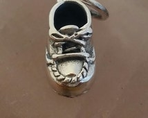 Baby Shoe, Sterling Silver Baby Shoe Charm, Baby Gift, Baby's First Christmas Gift, Baby Gift, Sterling Silver Shoe Charm, Silver Baby Charm