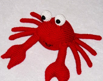 Crochet Crab  Amigurumi Crab Crab Plush  Red Crab Stuffed Animal Crab Kawaii  Crab Stuffed Crab Doll Toy nautical home decor