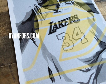 Shaq Los Angeles Lakers - Digital Print