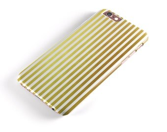The Golden Vertical Stripes  -  iNK-Fuzed Hard Case for the Apple iPhone - Samsung Galaxy & More