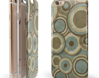 Blue and Green Overlapping Circles - Candy Shell Hybrid Two-Piece iPhone Case