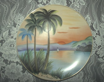 Porcelain Hand-painted Asian Plate