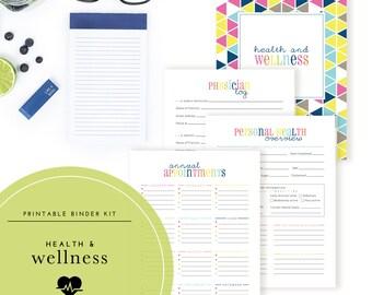 Health & Wellness Binder Kit  - A Printable PDF