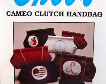 Cameo Clutch Handbag By Ghee's Vintage Sewing Pattern Packet 1989