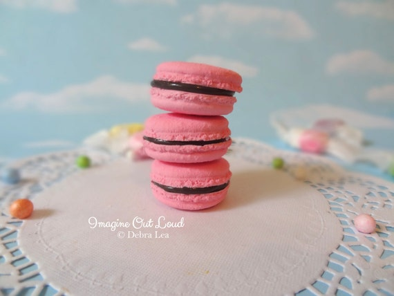 FAUX MACARON Set Pink and Chocolate