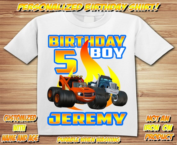 Blaze Monster Truck Shirt ~ Truck Birthday Shirt PERSONALIZED ~ Custom