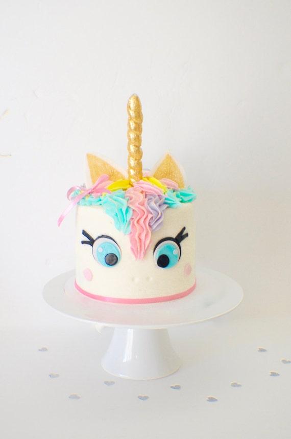 Unicorn Cake Topper unicorn horn unicorn party edible