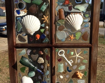 BEACHY SEAGLASS WINDOW