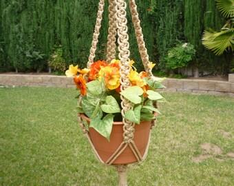 Macrame plant hanger. 70's Summer Breeze style