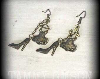 Shoe earrings High heel earrings Dress earrings Cute earrings Dangle earrings Gifts for her Pierced ears Tapers Tunnels Plugs 0g 2g 4g 6g