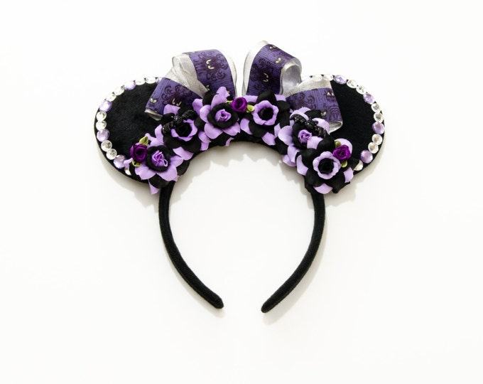 Haunted Mansion Wallpaper Mouse Ears Headband