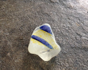 Lake Erie Beach Glass Unique blue and yellow