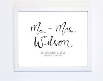 MR and MRS Customizable Print